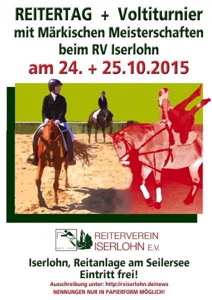 Plakat Reiter- und Voltitag